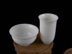 White Celedon Drinking and Sniffing Cups