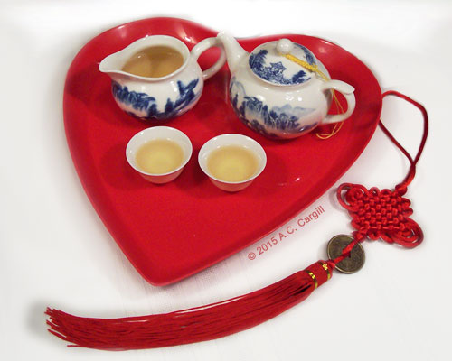 Our teawares featured in a recent love-filled tea article [photo used with permission]
