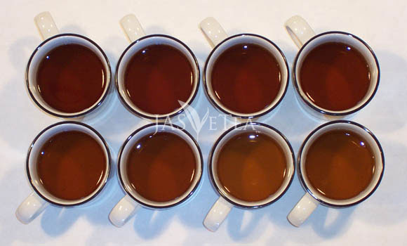 Eight infusions of Golden Bi Luo (a black tea from Yunnan province, China) and still going strong!