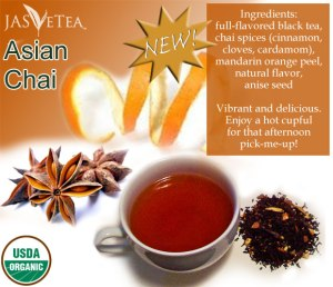 Asian Chai – 100% Organic and a real taste surprise!