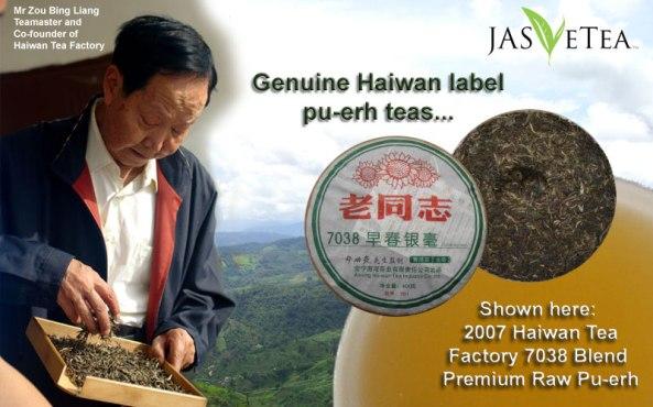 •Zou Bing Liang, co-founder of Haiwan Tea Factory, China.
