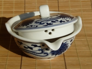 A gaiwan that we carried on our online store and soon sold out. Handy for those quick steeps.