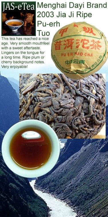 Menghai Dayi Brand 2003 Jia Ji Ripe Pu-erh Tuo