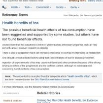 More sensible health news