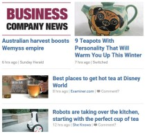 Tea news abounds