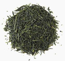 Gyokuro should be fairly intact, bright and dark green needle-shaped leaves.