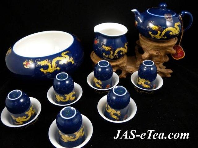 Golden Dragon Design Tea Set